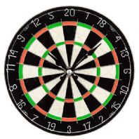 Dart Board Themed Wall Clock Battery Operated.....